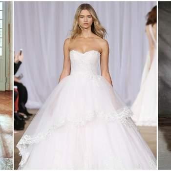 Vestidos de novia con falda voluminosa. ¡Diseños que no querrás dejar escapar!
