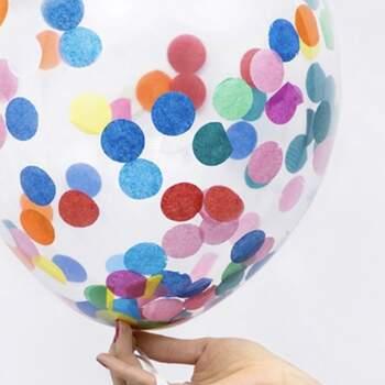 Ballons Avec Des Confettis Colorées 6 Pièces - The Wedding Shop !