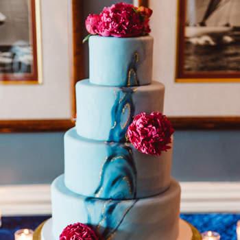 Inspiração para bolos de casamento de 4 andares | Créditos: Aster & Olive Photography