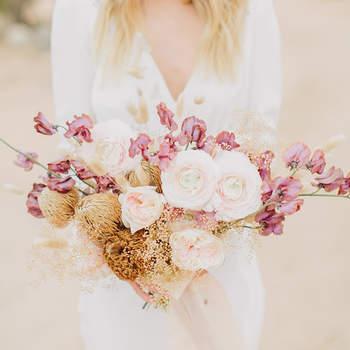 Bouquet de mariée fleurs roses Jake and Necia