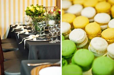 Macarrones franceses para la mesa de dulces de tu boda
