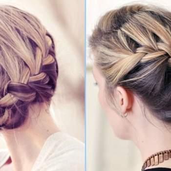 Deux idées de coiffure, avec un effet flou. Photo : matrimonionoproblem.com