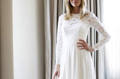 One of our favourite UK Bridal Designers: Caroline Castigliano as seen at NYBW!