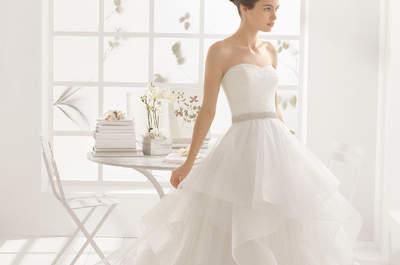 Los 40 vestidos de novia 2016 perfectos para mujeres delgadas: No te podrás resistir