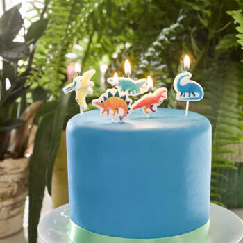 Velas Dinosaurio 5 unidades- Compra en The Wedding Shop