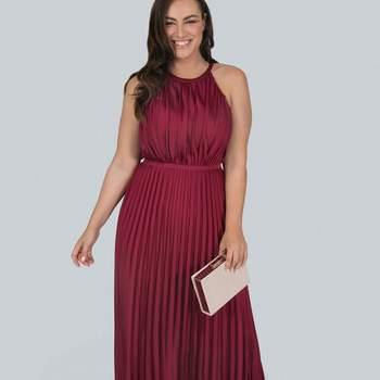 Credits: Chi Chi London Burgundy Pleated Maxi Dress, Evans