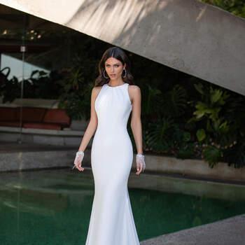 Vestido de noiva modelo Ellen da coleção Pronovias 2021 Cruise Collection