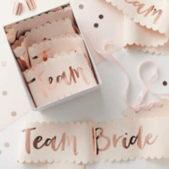 Echarpes Team Bride 6 Pièces - The Wedding Shop !