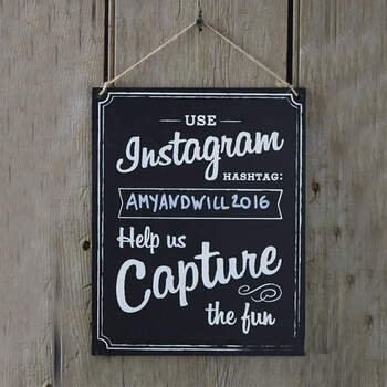 Letrero de boda de Instagram- Compra en The Wedding Shop