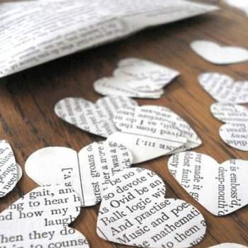 Foto: Shakespeare wedding confeti by Bookity