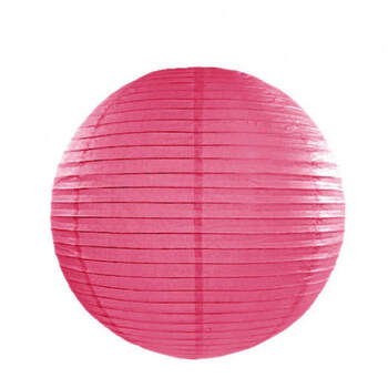 Esfera de papel para iluminar fucsia 35cm- Compra en The Wedding Shop