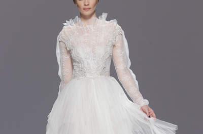 ¡Atención novias valientes! Tendencias en vestidos cortos