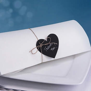 Marcasitio Corazón Pizarra 10 Unidades- Compra en The Wedding Shop