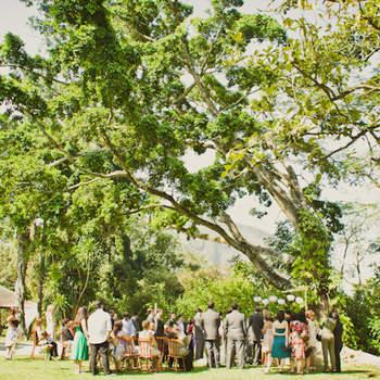 Cerimônia ao ar livre.