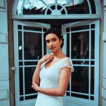 Photo : Guillaume Gilles - Elsa Gary, robe de mariée Polaire