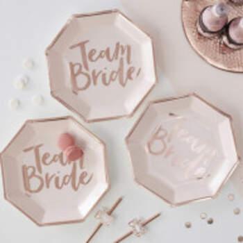 Assiettes Team Bride 8 Pièces - The Wedding Shop !