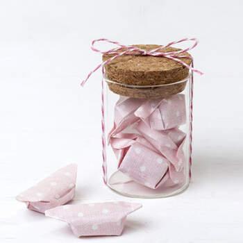Recipiente vidrio con caramelos rosa 12 unidades - Compra en The Wedding Shop