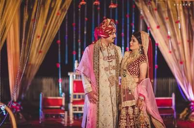 Stunning two-states wedding of Radhika and Sandip
