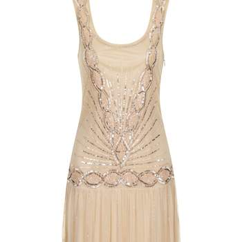 Zelda flapper dress nude apricot. Credits: Frock and Frill