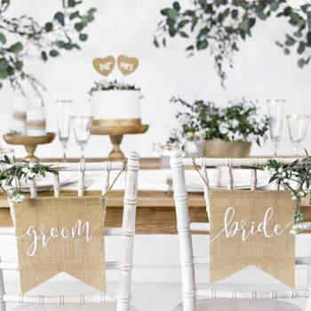Banderas para Sillas de Novios- Compra en The Wedding Shop
