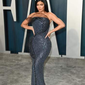 Kylie Jenner en Ralph & Russo. Credits: Getty Images