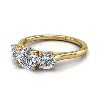 Photo : Diamants et Carats - Modèle : Alizia 0,50 carats et or jaune