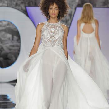 Bruidsjurken met steentjes, glitters en parels, glamour op z'n best!