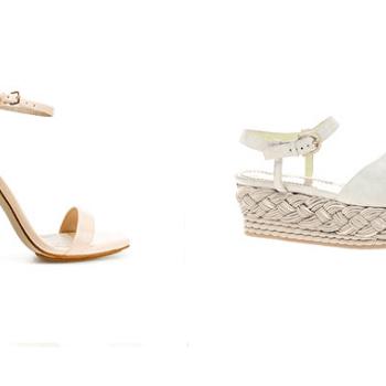 Sandale à talon et sandale à semelle compensée : 2 modèles très féminins. Source : Topshop