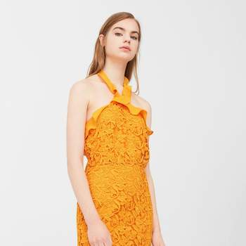Vestido halter de guipura da Mango (29,99€)