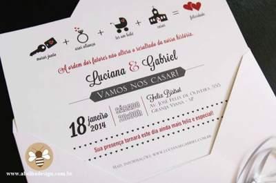 Convites estilosos e cheios de significados para casamentos modernos em 2015