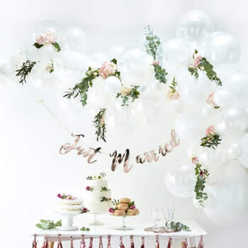 Arco de globos blanco 70 unidades - Compra en The Wedding Shop