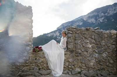 Italienischer Hochzeitstraum: Styled Wedding auf der Ruine Basilika di Sant'Eustachio