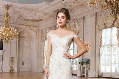 Lillian West Colección 2015: Vestidos de novia con líneas clásicas, acentos metalizados y textiles exquisitos