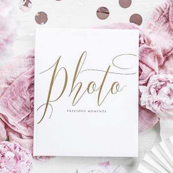 Álbum de fotos preciosos momentos blancos- Compra en The Wedding Shop