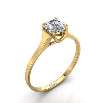 Photo : Diamants et Carats - Modèle : Bague Cindy 0.50 carats en or jaune