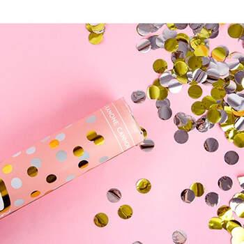 Foto: Lanzador de confeti oro y plata