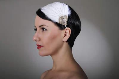 Свадебная прическа на короткие волосы: идеи 2015