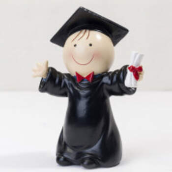 Cake Topper Laurea Jeune Garçon Cartoon - The Wedding Shop !