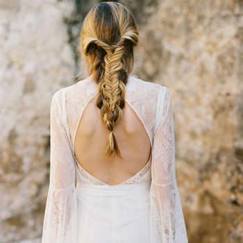 Cabelo de noiva preso trança | Credits: Apryl Ann Photography