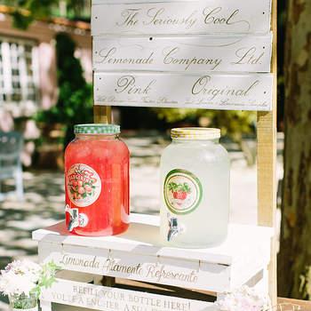 Os melhores recantos de limonada para o seu casamento. Refresque os seus convidados!