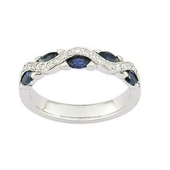 Alliance saphir et diamants, créateur: Girard Crédit photo: Alliances ors