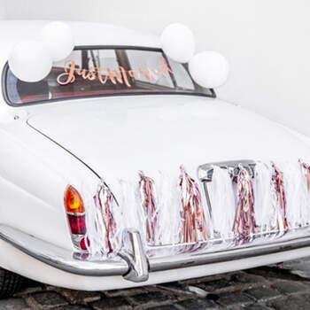 Kit completo coche just married oro rosado - Compra en The Wedding Shop