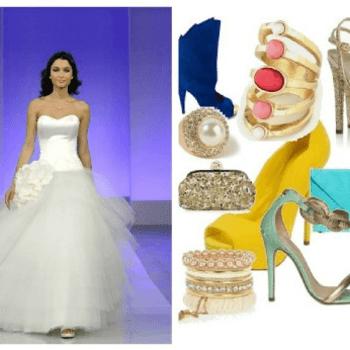 ROMANTISCH. Das perfekte Kleid für die romantische Braut ist das Modell Gardenia aus der Kollektion Cymbeline 2013. Ein voluminöser Tüll-Rock mit Blumen kombiniert mit einem schlichten schulterfreien Bustier-Oberteil perfektioniert den Romantik-Look. Zum Kleid tragen empfehlen wir farbenfrohe Schuhe und ein zurückhaltendes Make-up. Foto: Cymbeline (Frankreich)