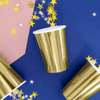 Vasos Metalizados color Oro 6 unidades- Compra en The Wedding Shop