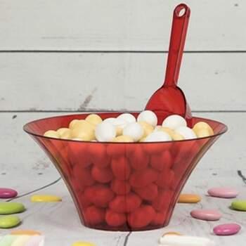 Récipient Rouge, Pot Pour Buffet De Dragées - Achetez sur The Wedding Shop !