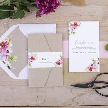 Hochzeitseinladung Kathleen und Herold