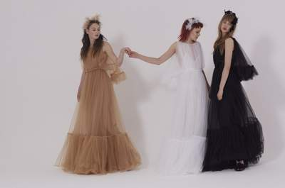 Atrevidos vestidos de novia de color. ¡Sorprende a todos con estos hermosos diseños!