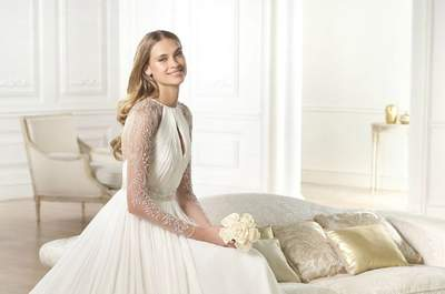 Les robes de mariée drapées de la collection Pronovias 2015
