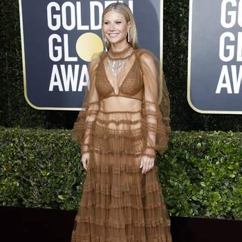 Gwyneth Paltrow de Fendi. Credits Cordon Press