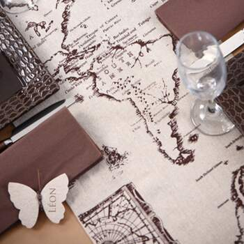 Rouleau De Table Globe - The Wedding Shop !